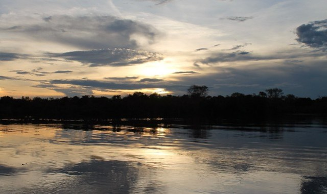 sunset amazon tupana river reflections
