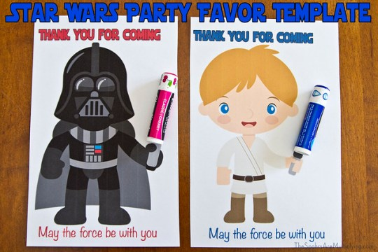 Star Wars Party Favor Template