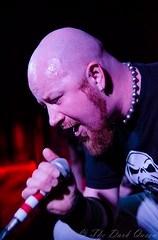 Andrew 'Jones' Cassidy of Cursed Sun at Metal 2 The Masses, Voodoo, Belfast, 15 April 2016