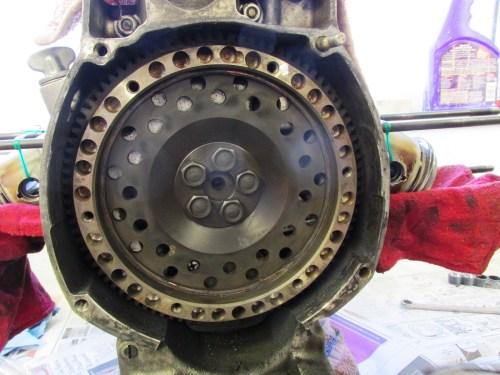 Flywheel Was Lightened For Racing