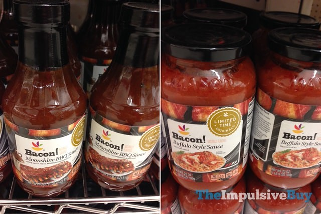 Giant Limited Time Originals Bacon Moonshine BBQ Sauce and Bacon Buffalo Sauce