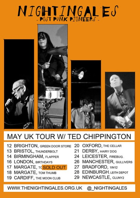 Nightingales + Ted Chippington - UK Tour Dates in May 2016