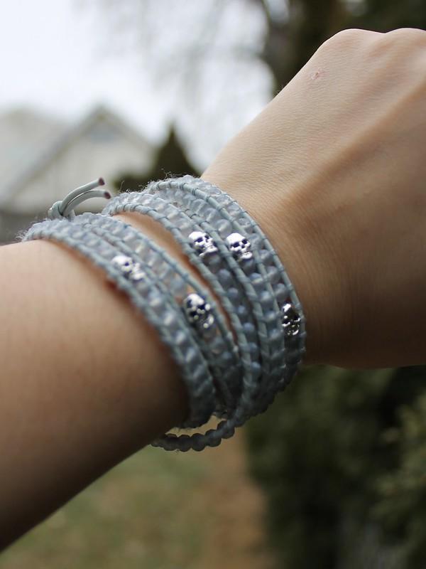 LOFT Cardigan and Victoria Emerson bracelet