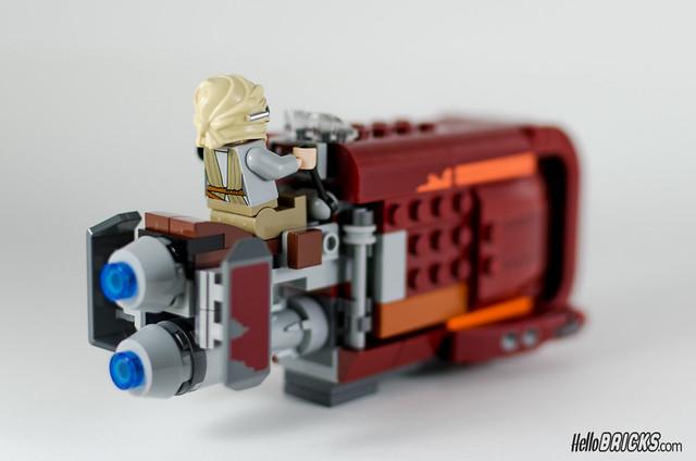 REVIEW LEGO Star Wars 75099 Rey's Speeder 22 - HelloBricks