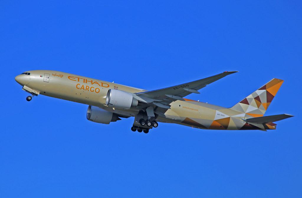 Schiphol EHAM Kaagbaan, A6-DDD Etihad Airways Cargo Boeing 777-FFX