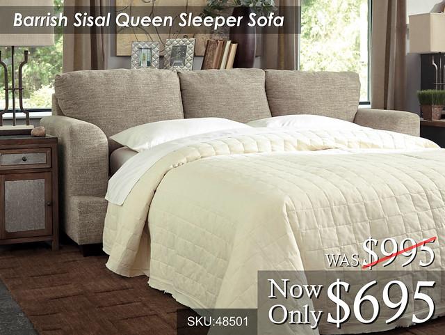 Barrish Sisal Queen Sleeper Sofa