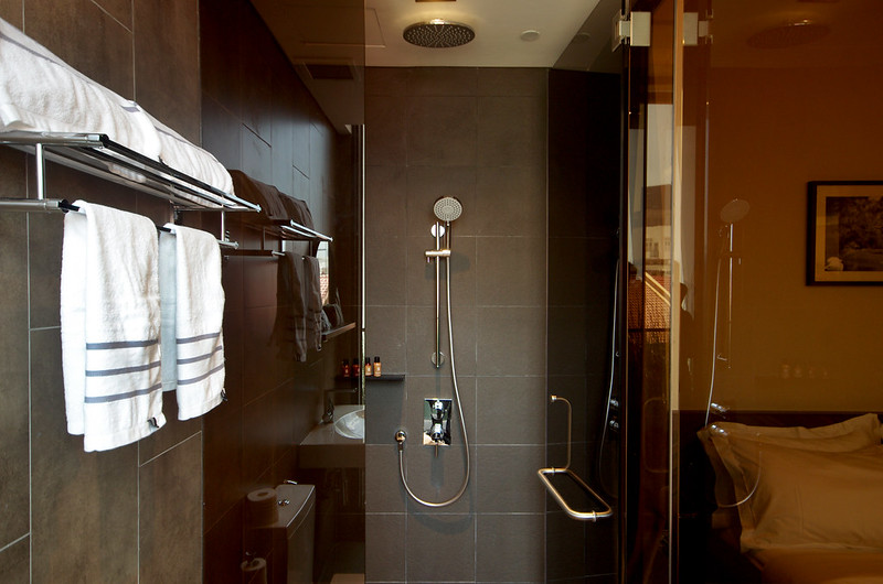 shower area - deluxe double room hotel yan singapore