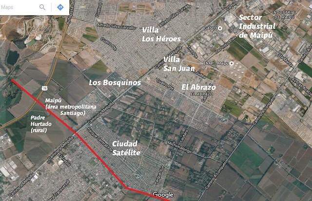Ciudad satélite mapa