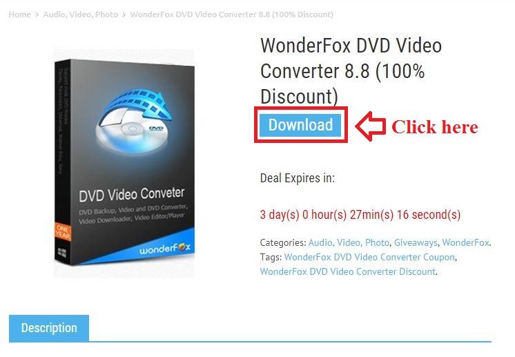 Bản quyền miễn phí WonderFox DVD Video Converter 8.8 bước 2: click download