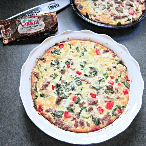 Crustless Zesty Italian Venison Quiche