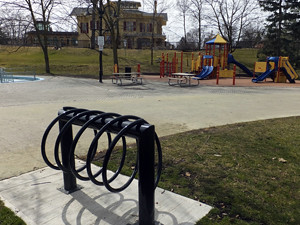 2016 04 Gage Park bike rack Alderlea_300