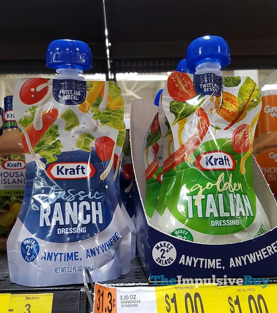 Kraft Classic Ranch and Golden Italian Pouches