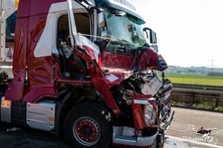 Lkw Unfall A3 bei Limburg 11.04.16