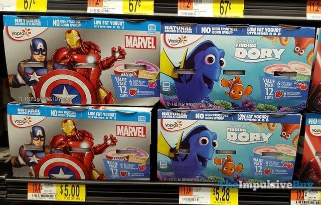 Yoplait Kids Marvel and Finding Dory Yogurt