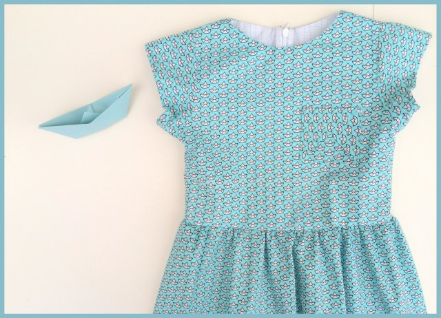paper boat dress (top)
