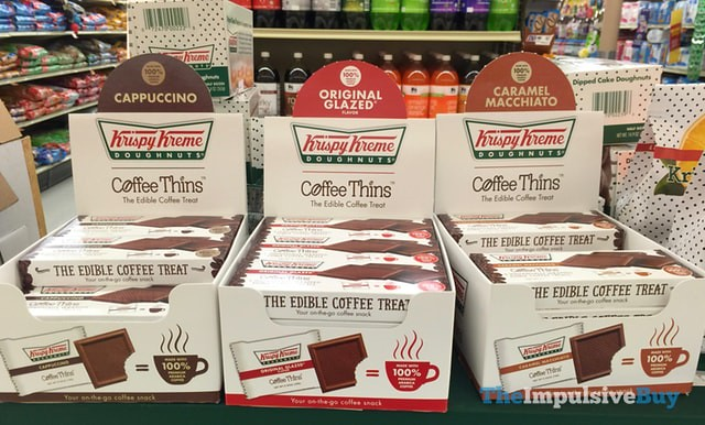 Krispy Kreme Coffee Thins (Cappuccino, Original Glazed, and Caramel Macchiato)