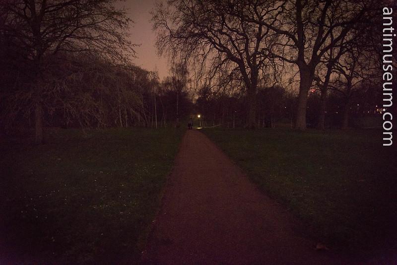 Weird Night Light In Hyde Park
