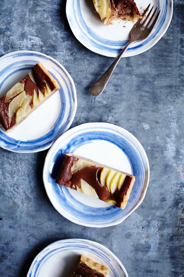 Tarta de pera y nutella