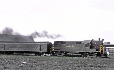 Nickel Plate Road (NKP) RS36 875 at Englewood Union Station, Chicago, IL  Train 5, The City of Chicago, on April 21, 1965 02