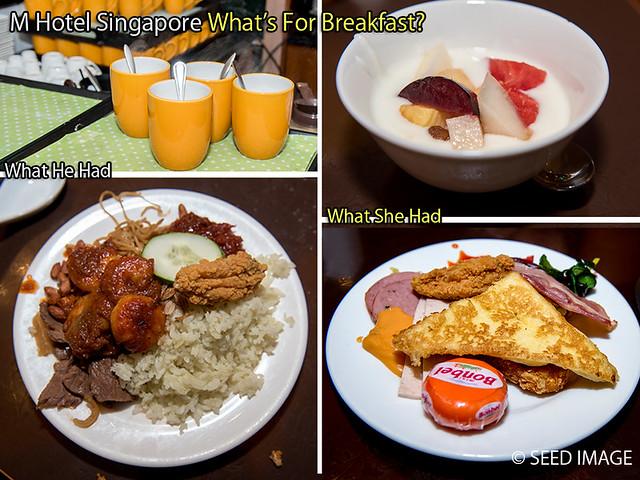 M Hotel Singapore Derrick See Breakfast
