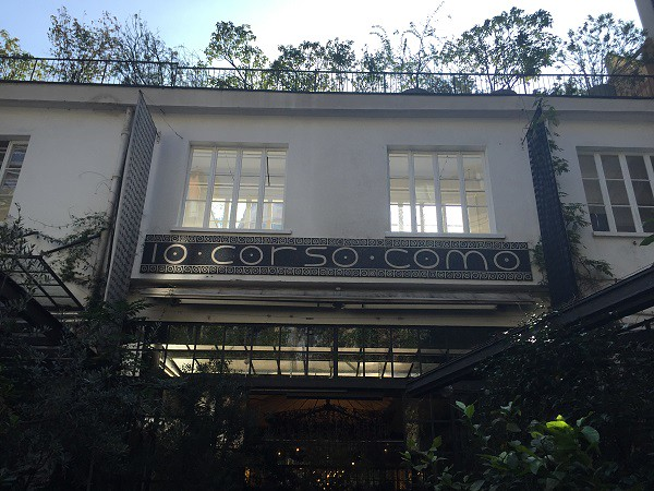 Detail of n. 10 corso como and the homonymous cafe