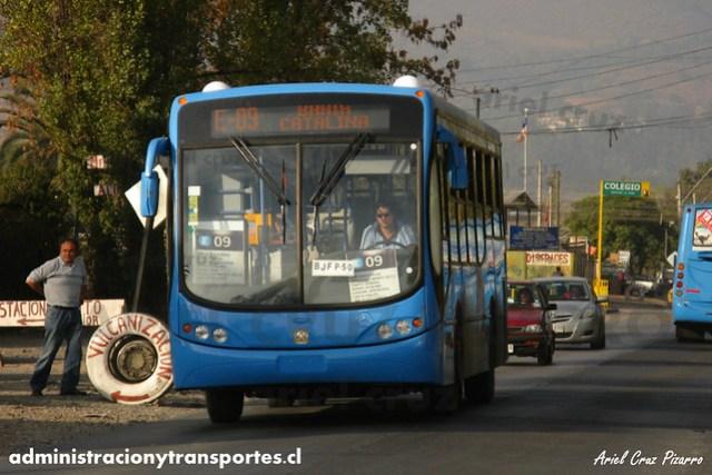 Transantiago - Unitran - Busscar Urbanuss Pluss / Mercedes Benz (BJFP50)