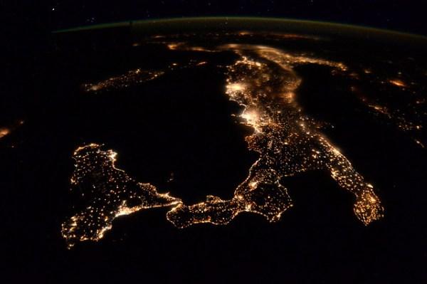 Italy at night
