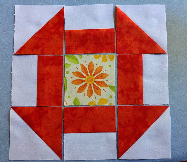 Completed pieces ready to form the block