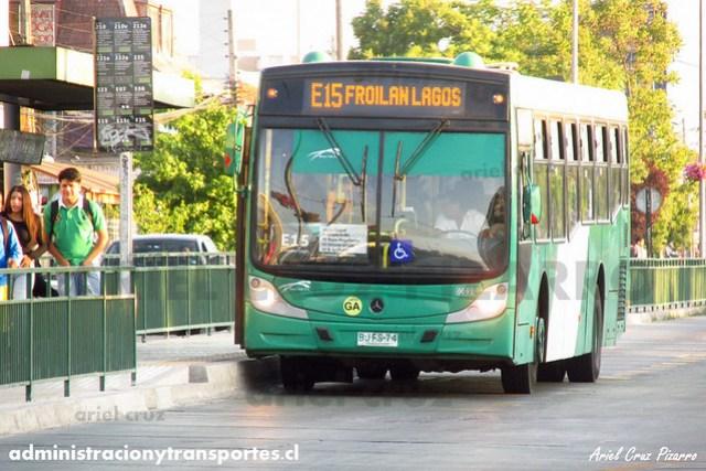 Transantiago (E15) - Buses Vule - Caio Mondego H / Mercedes Benz (BJFS74) (91)