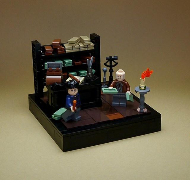 LEGO Harry Potter vignettes #002 - At Ollivander's Wand Shop