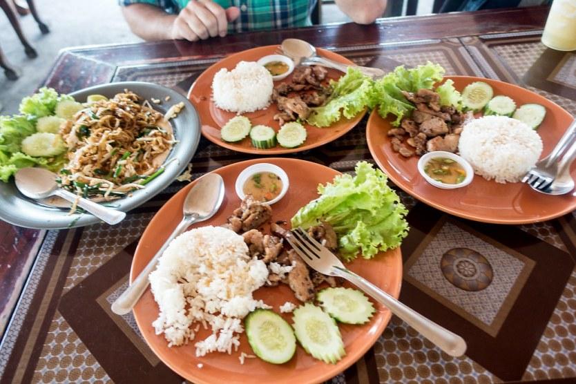 It's raining Korean style BBQ pork in Chiang Mai, Thailand.