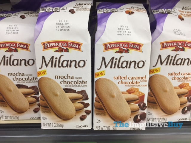 Pepperidge Farm Mocha Chocolate and Salted Caramel Chocolate Milano Cookies