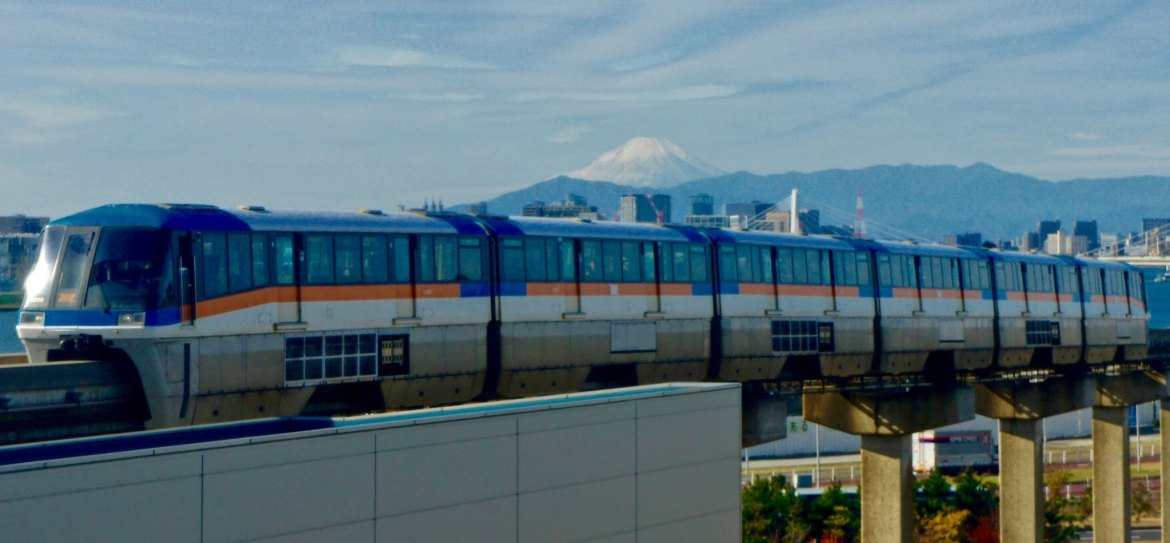 Haneda Airport - Monorail and Mount Fuji