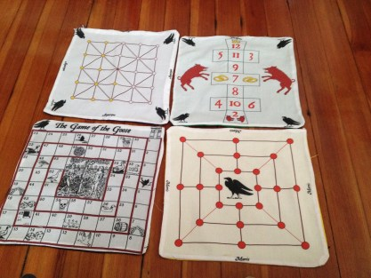 Cotton game boards