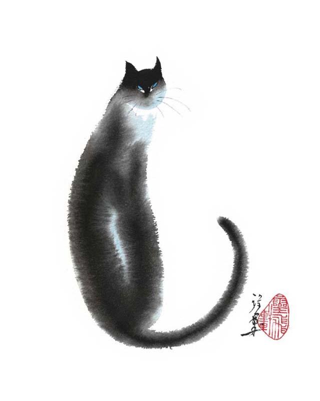 Chinese Cat II by Cheng Yan