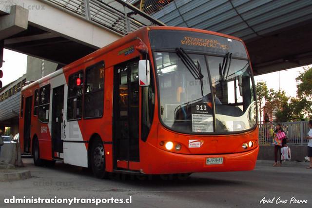 Transantiago - Express de Santiago Uno - Busscar Urbanuss Pluss / Volvo (BJFH41)