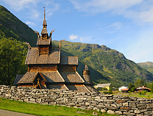 Borgund stave church in Norway