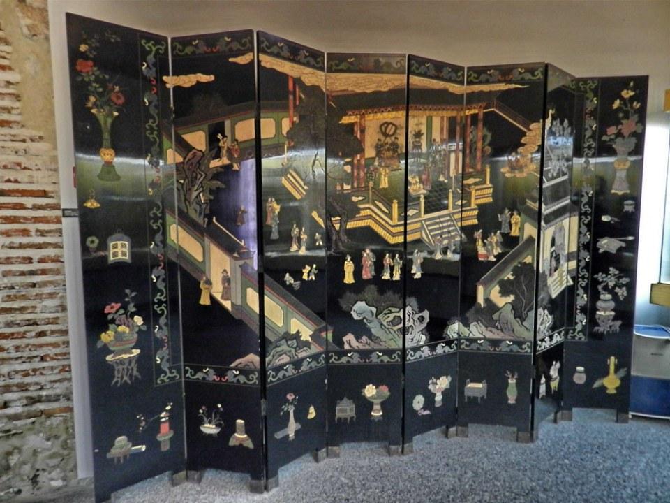 Biombos Museo Arte Oriental Real Monasterio Santo Tomás Avila 01