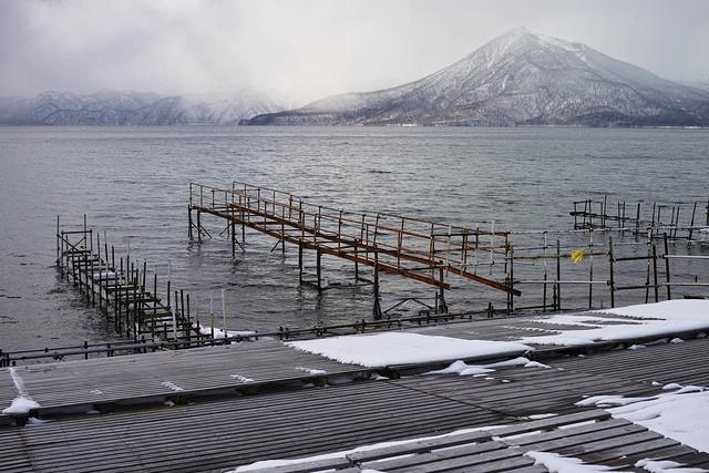 冬の支笏湖畔 2016