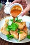 Crispy tofu with salt and wildfire dukkah, $17: Lotus, Sydney. Sydney Food Blog Review