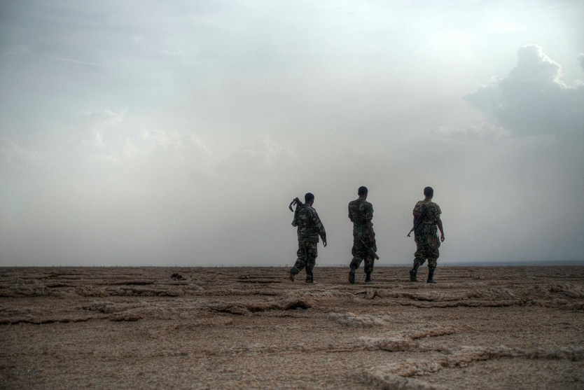 Soldiers assigned to our group to protect us in the volatile region.