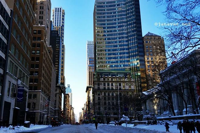 Travel: New York City in snow