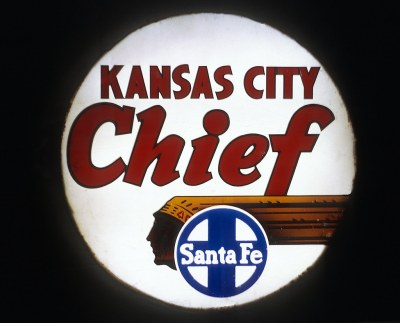 The Kansas City Chief drumhead, Dearborn Station, Chicago, IL on February 5, 1968