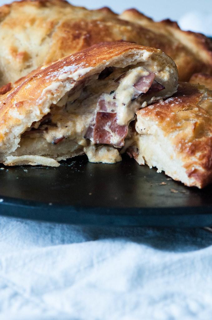 Ham and Cheese Pretzel Calzones 8