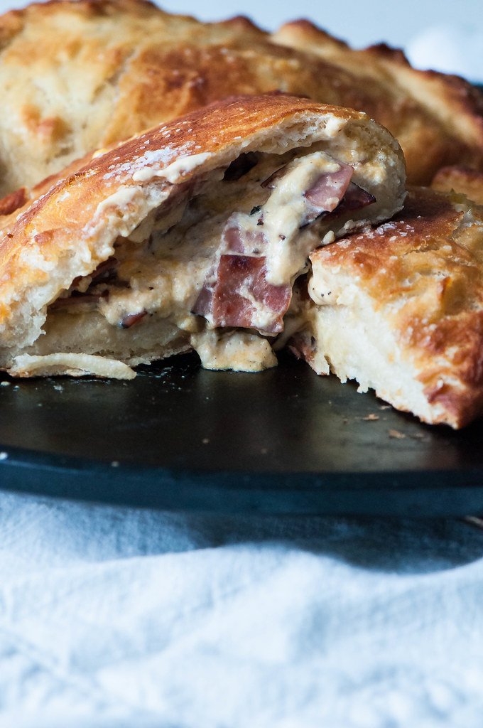 Ham and Cheese Pretzel Calzones 8