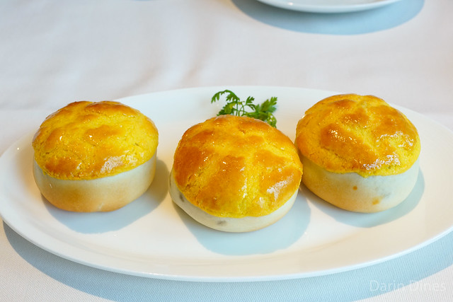 Baked Barbecued Pork Buns with Pine Nuts