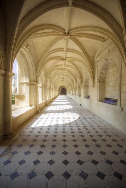A hallway along the cloisters.
