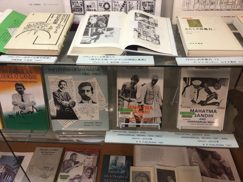 Mahatma Gandhi statue at suginami Ward Library
