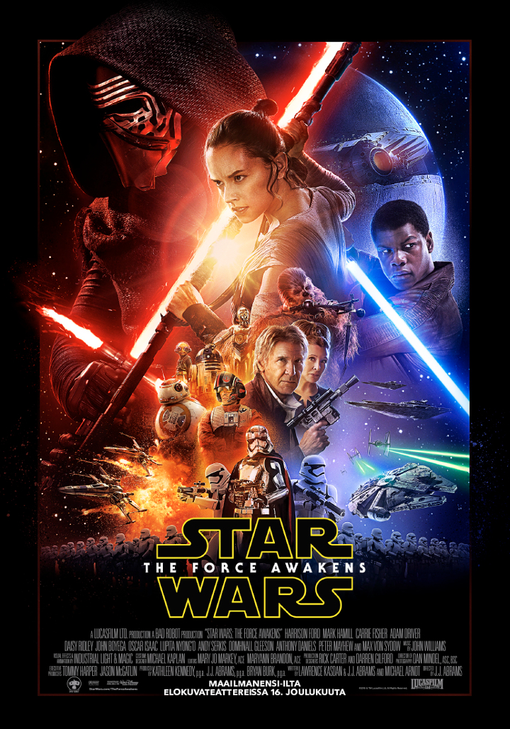 star wars the force awakens juliste