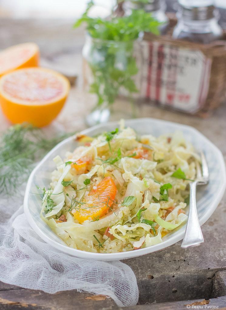 Quinoa con finocchi, cavolo cappuccio e arance2